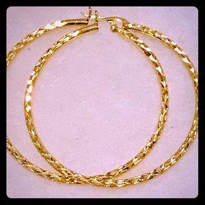 3a1fca9d3afd7c Macy's Jewelry | 14k Gold Vermeil Hoop Earrings | Poshmark